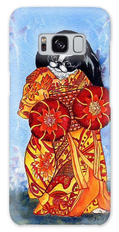 Japanese Chin Galaxy S8 Case featuring the painting Geisha Chin by Kathleen Sepulveda