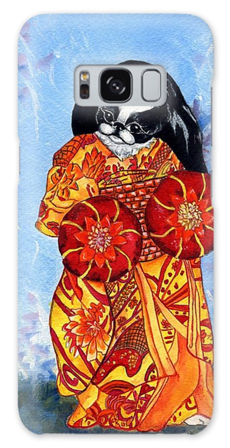 Japanese Chin Galaxy Case featuring the painting Geisha Chin by Kathleen Sepulveda