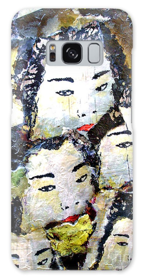 Geisha Girls Galaxy S8 Case featuring the mixed media Geisha Girls by Shelley Jones
