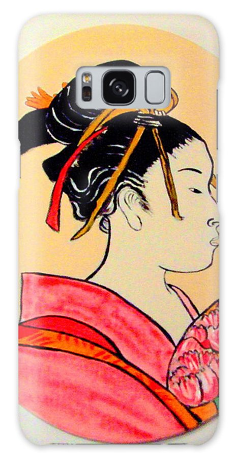 Geisha Girls Galaxy S8 Case featuring the painting Geisha In The House Of Pleasure by Rusty Gladdish