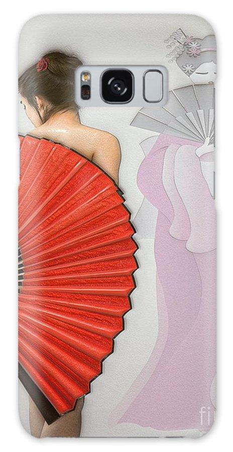 Geisha; Geisha Card Galaxy S8 Case featuring the digital art Geisha by Liane Wright