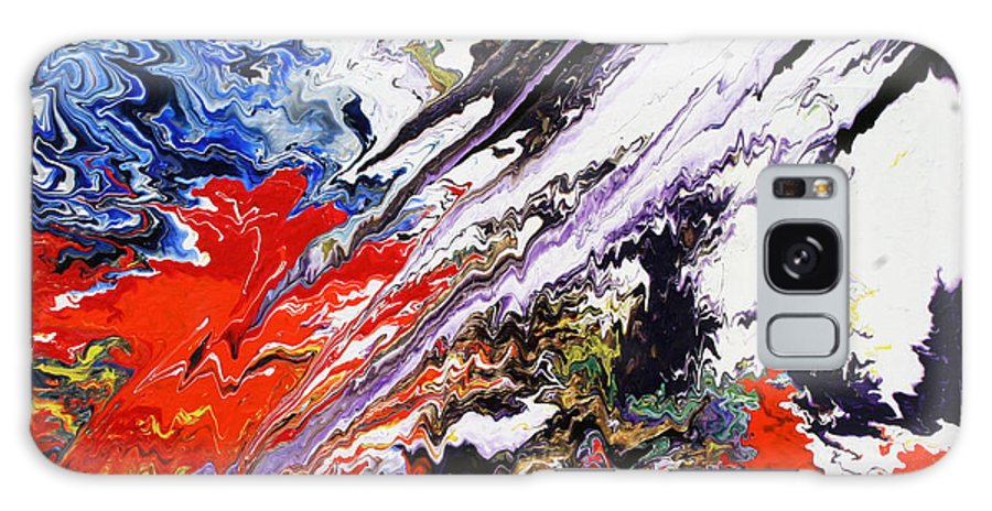 Fusionart Galaxy Case featuring the painting Genesis by Ralph White