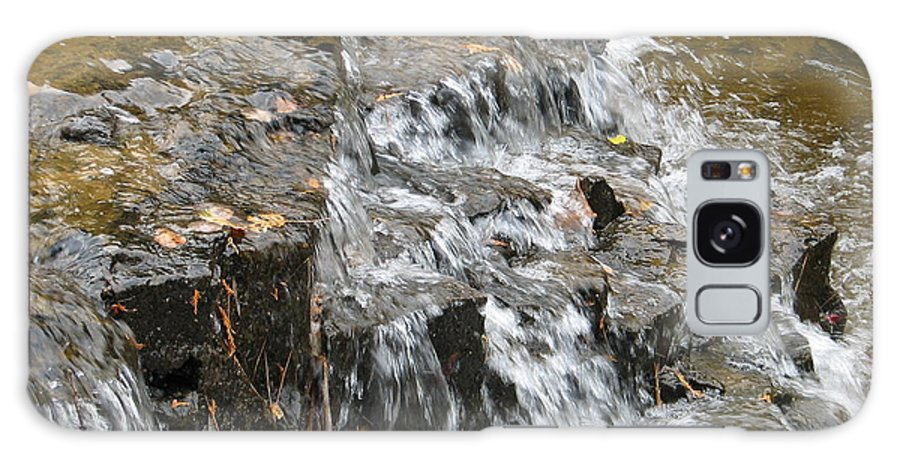 Waterfall Galaxy Case featuring the photograph Gentle Falls by Kelly Mezzapelle