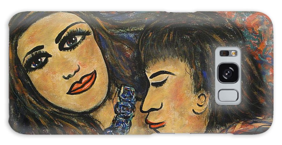 Canvas Prints Galaxy S8 Case featuring the painting Gentle Loving Kiss by Natalie Holland