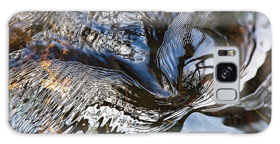 River Galaxy S8 Case featuring the photograph Gentle Rapids Ripple Swirl In River-5 by Steve Somerville