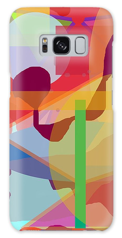 Abstract Galaxy Case featuring the painting Geo Frenzy by Pharris Art