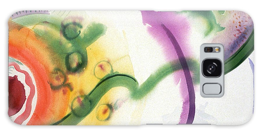 Abstract Galaxy S8 Case featuring the painting Geomantic Blossom Ripening by Eileen Hale