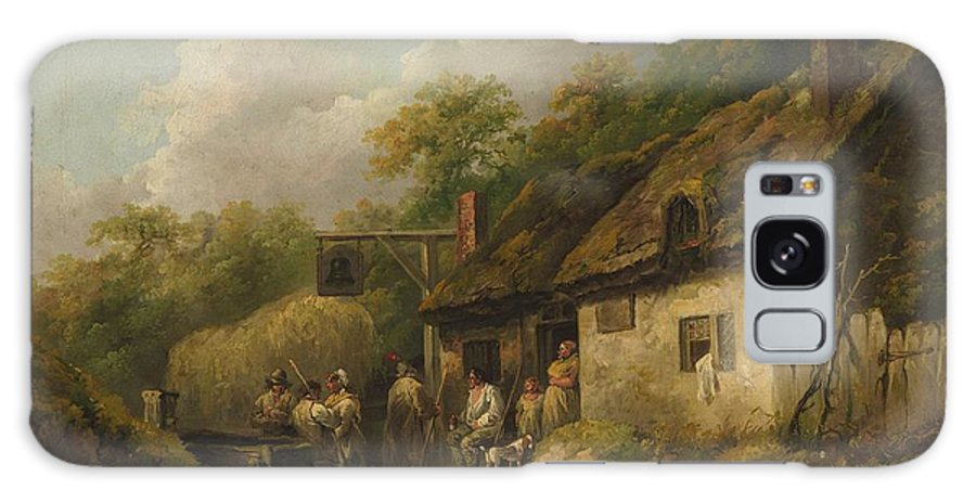 Nature Galaxy S8 Case featuring the painting George Morland The Bell Inn by George Morland