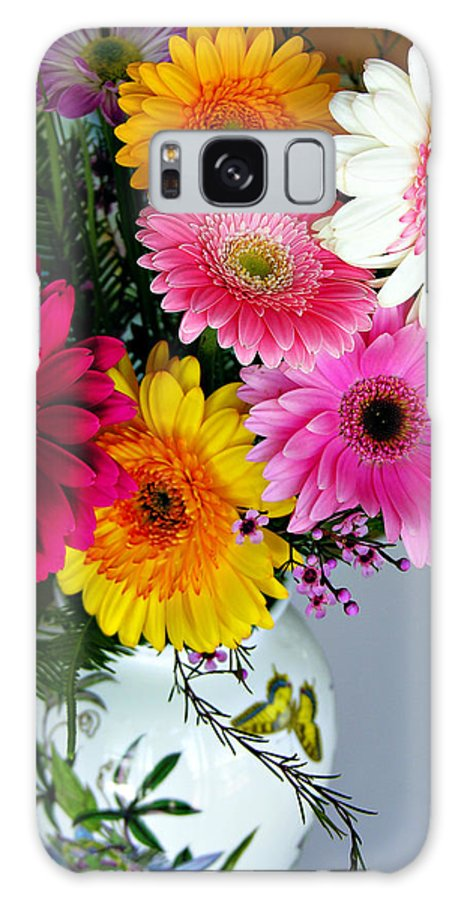 Flower Galaxy Case featuring the photograph Gerbera Daisy Bouquet by Marilyn Hunt