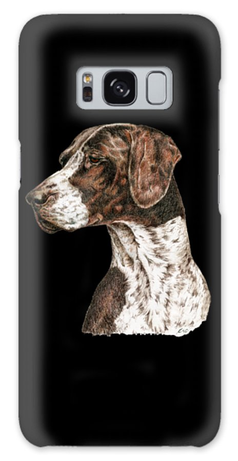German Shorthaired Pointer Galaxy Case featuring the drawing German Shorthaired Pointer by Kathleen Sepulveda