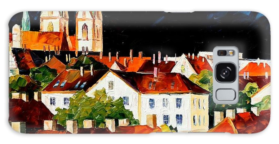 City Galaxy S8 Case featuring the painting Germany - Freiburg by Leonid Afremov