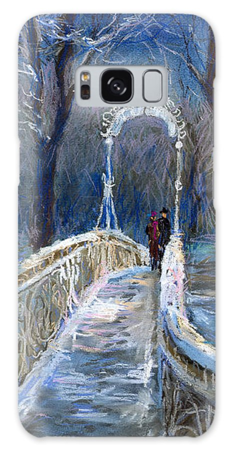 Pastel Galaxy S8 Case featuring the painting Germany Baden-baden 02 by Yuriy Shevchuk