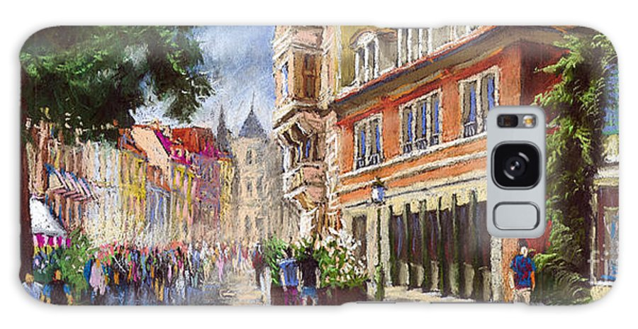 Pastel Galaxy Case featuring the painting Germany Baden-baden Lange Str by Yuriy Shevchuk