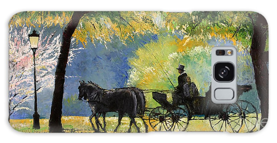Oil Galaxy S8 Case featuring the painting Germany Baden-baden Lichtentaler Allee Spring by Yuriy Shevchuk