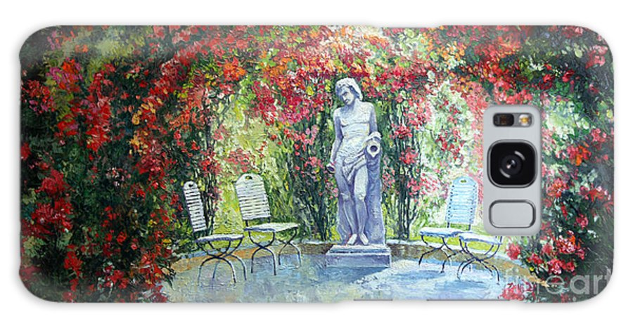 Oil Galaxy Case featuring the painting Germany Baden-baden Rosengarten 02 by Yuriy Shevchuk