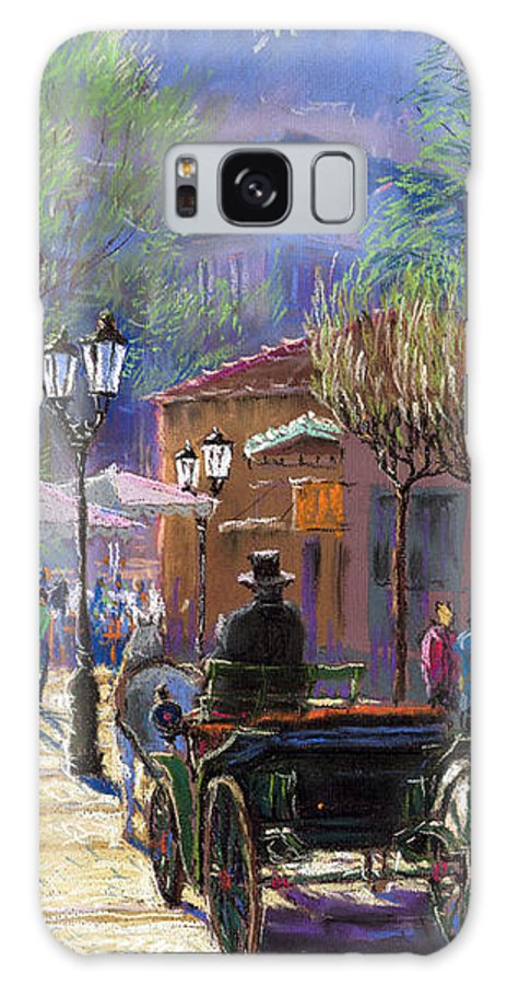 Pastel Galaxy S8 Case featuring the painting Germany Baden-baden Spring Ray by Yuriy Shevchuk