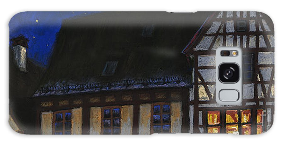 Pastel Galaxy Case featuring the painting Germany Ulm Fischer Viertel Moonroofs by Yuriy Shevchuk