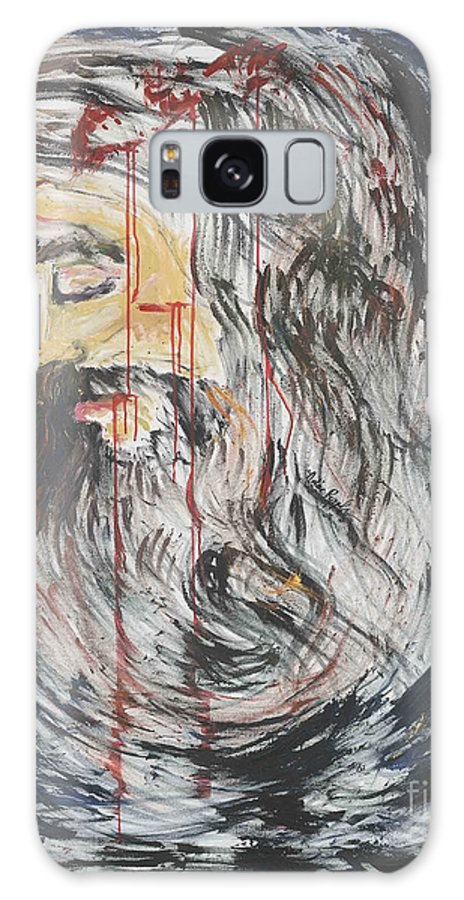 Jesus Galaxy Case featuring the painting Gethsemane To Golgotha IIi by Nadine Rippelmeyer