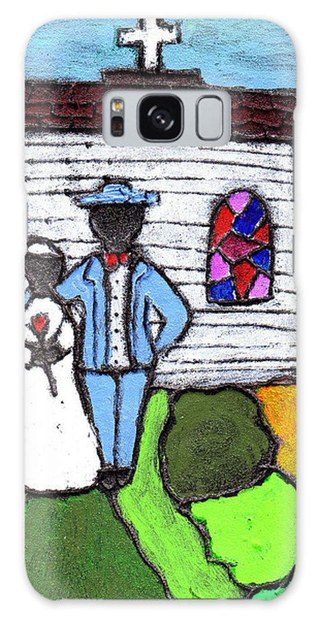 Folk Art Galaxy Case featuring the painting Getting Married Today by Wayne Potrafka