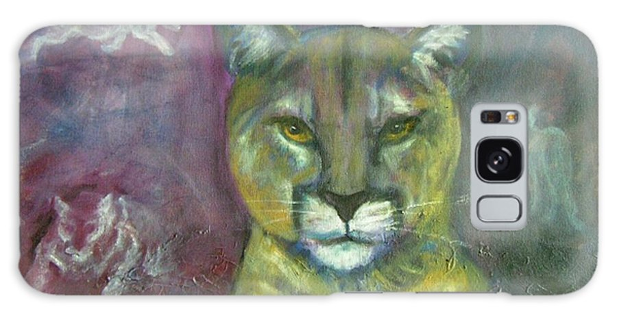 Wildlife Galaxy S8 Case featuring the painting Ghost Cat by Darla Joy Johnson