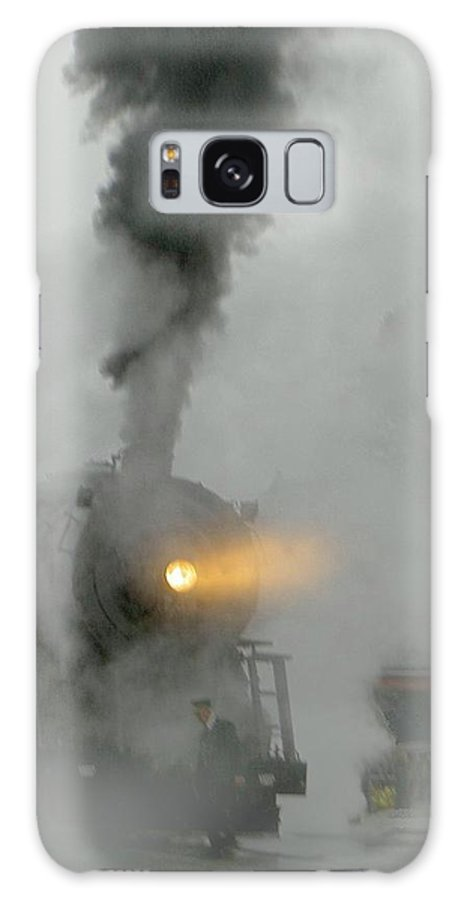 Mist Galaxy S8 Case featuring the photograph Ghost Train In The Mist by Carolyn Jacob
