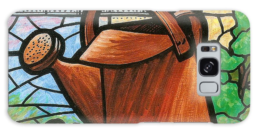 Gardening Galaxy S8 Case featuring the painting Giant Watering Can Staunton Landmark by Jim Harris