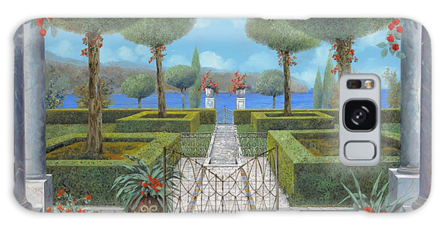 Italian Garden Galaxy S8 Case featuring the painting Giardino Italiano by Guido Borelli
