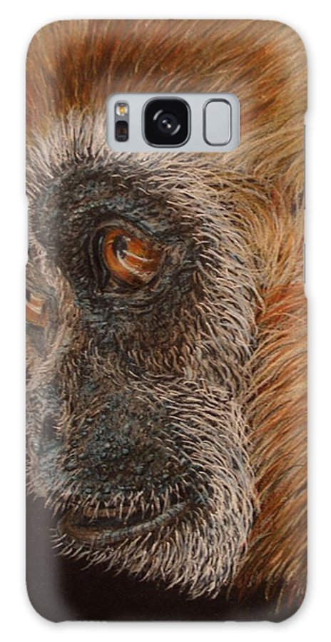 Animals Galaxy S8 Case featuring the drawing Gibbon by Karen Ilari
