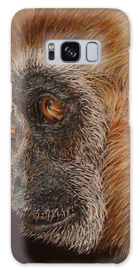 Animals Galaxy Case featuring the drawing Gibbon by Karen Ilari