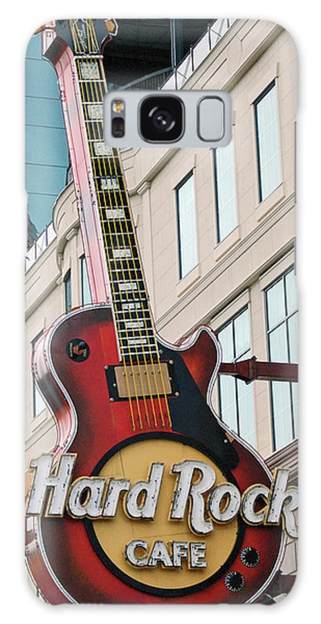 Guitar Galaxy S8 Case featuring the digital art Gibson Les Paul Of The Hard Rock Cafe by DigiArt Diaries by Vicky B Fuller