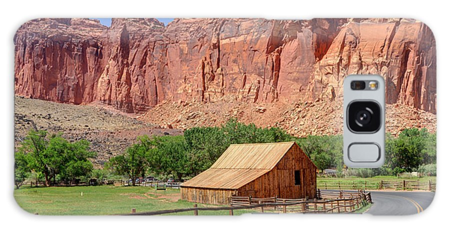 Utah Galaxy S8 Case featuring the photograph Gifford Homestead Barn - Capitol Reef National Park by Gary Whitton