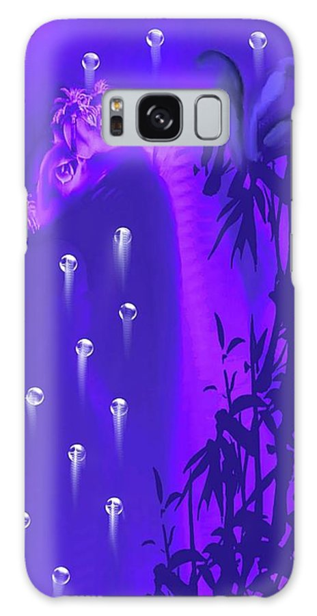 Gilly Digital Galaxy S8 Case featuring the painting Gilly The Giraffe-by Sherri Of Palm Springs by Sherri's - Of Palm Springs