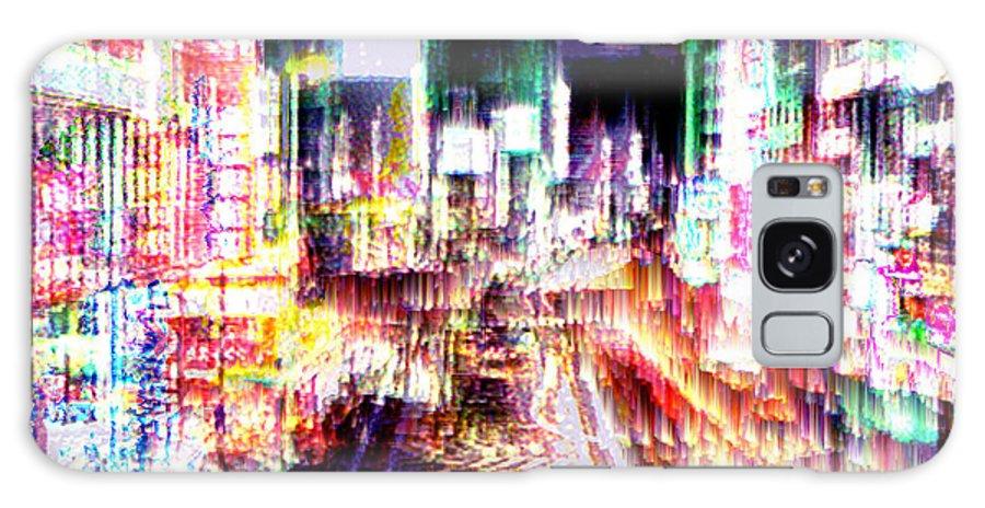 Tokyo Galaxy S8 Case featuring the digital art Ginsa Glitz by Seth Weaver
