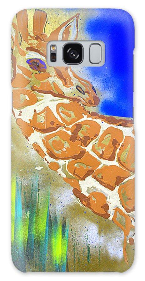 Giraffe Galaxy Case featuring the painting Giraffe by J R Seymour
