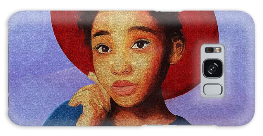Portrait Galaxy S8 Case featuring the painting Girl 1 by Tafadzwa Ziona