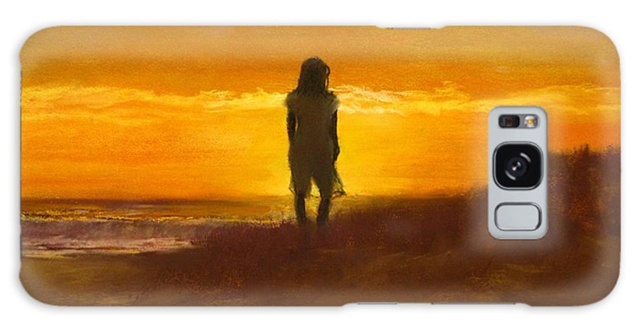 Beach Galaxy S8 Case featuring the painting Girl On The Dunes by Jack Skinner