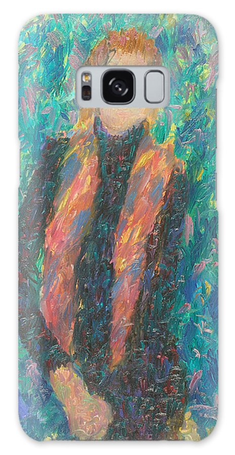 Beauty Galaxy S8 Case featuring the painting Girl by Robert Nizamov