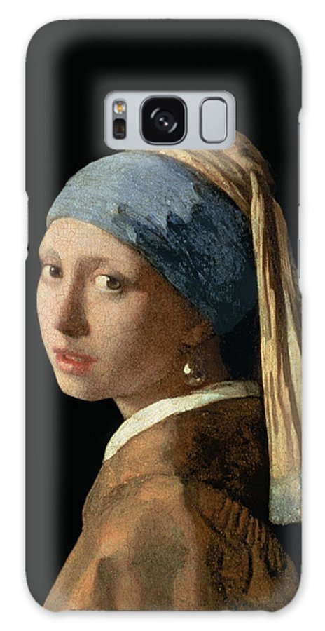 Jan Vermeer Galaxy Case featuring the painting Girl with a Pearl Earring by Jan Vermeer