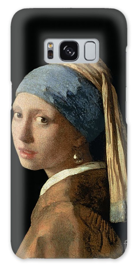 Jan Vermeer Galaxy Case featuring the painting Girl with a Pearl Earring by Jan Vermeer