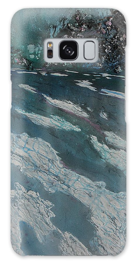Ice Galaxy S8 Case featuring the painting Glacial Moraine by Ruth Kamenev
