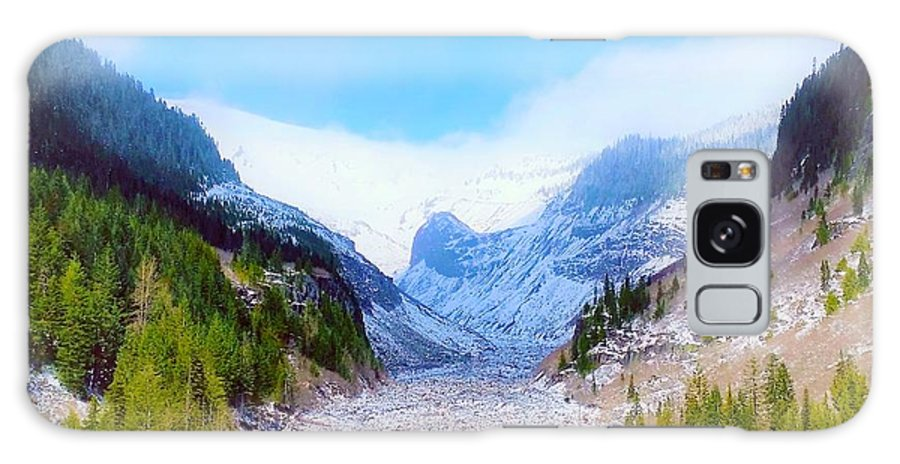 Glacier Galaxy S8 Case featuring the digital art A Glacier In Mt. Rainier by Jane Powell