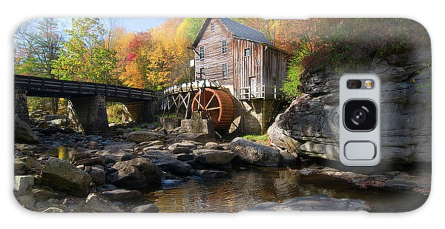 Mill Galaxy S8 Case featuring the photograph Glade Creek Grist Mill by Steve Stuller