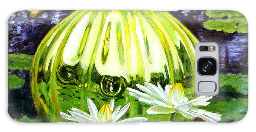 Water Lilies Galaxy S8 Case featuring the painting Glass Among The Lilies by John Lautermilch