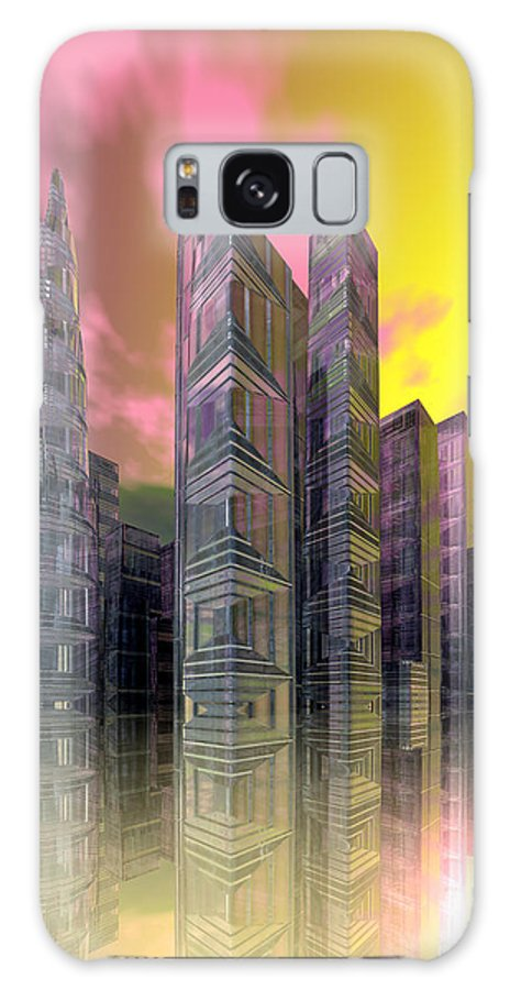 Bryce Galaxy S8 Case featuring the digital art Glass City by Sandra Bauser Digital Art