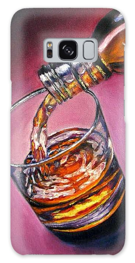 Glass Of Wine Galaxy S8 Case featuring the painting Glass Of Wine Original Oil Painting by Natalja Picugina