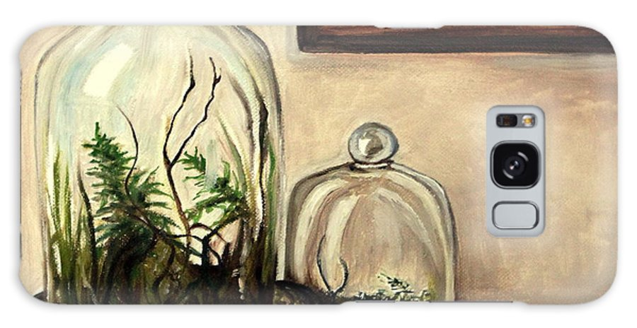 Glass Galaxy S8 Case featuring the painting Glass Terrariums by Elizabeth Robinette Tyndall