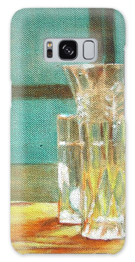 Glass Galaxy S8 Case featuring the painting Glass Vase - Still Life by Usha Shantharam