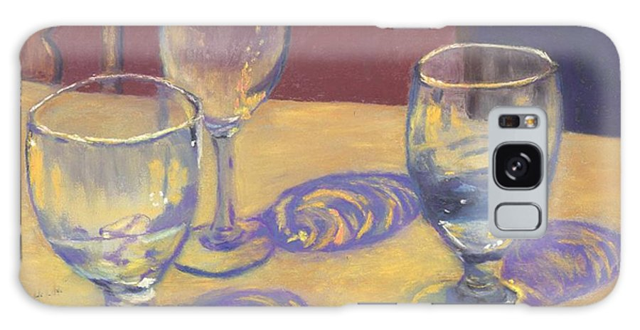 Glasses Galaxy S8 Case featuring the painting Glasslights by Sharon E Allen