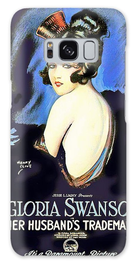 Movie Galaxy S8 Case featuring the mixed media Gloria Swanson In Her Husband's Trademark 1922 by Mountain Dreams