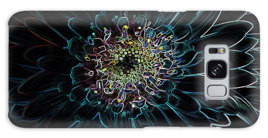 Flower Galaxy S8 Case featuring the photograph Glow Edge Flower by Deborah Benoit